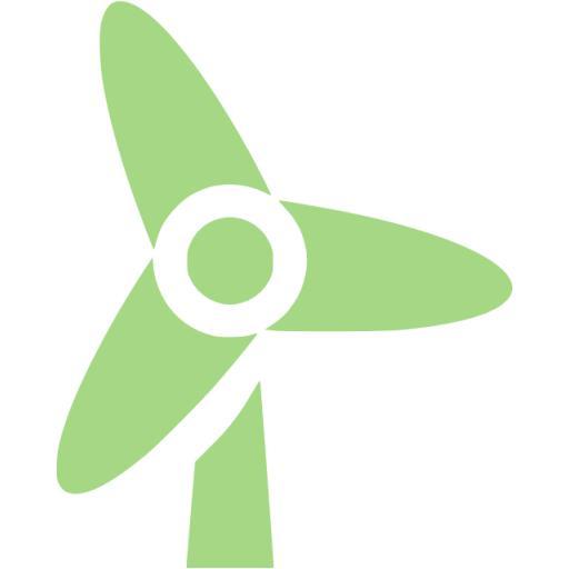 Guacamole Green Wind Turbine Icon
