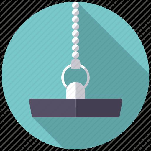 Chain, Drain Stopper, Plug, Plumbing, Rubber Icon