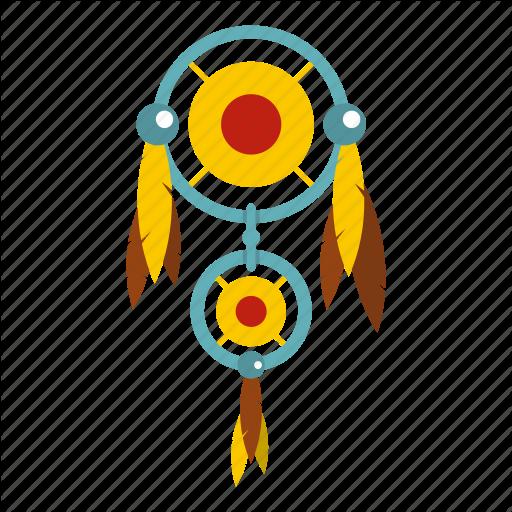 American, Catcher, Dream, Dreamcatcher, Feather, Native, Ornament Icon