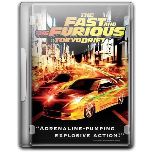 Fast And Furious Tokyo Drift, Film, Movies Icon Free Of English