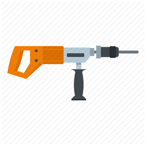 Bit, Construction, Drill, Electric, Perforator, Tool, Work Icon