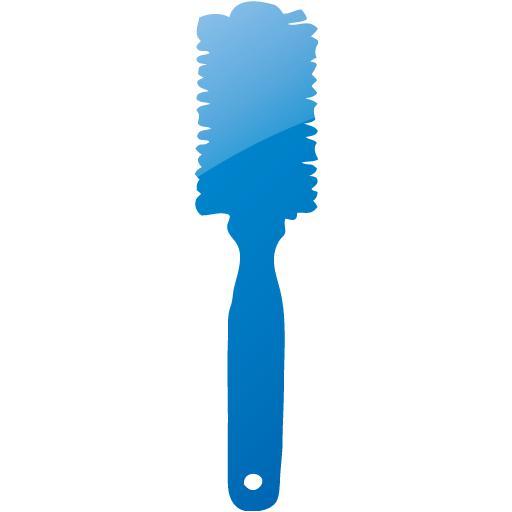 Web Blue Hair Brush Icon