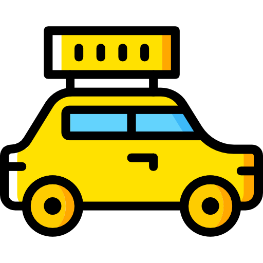 Transport, Vehicle, Taxi, Automobile, Car, Transportation Icon