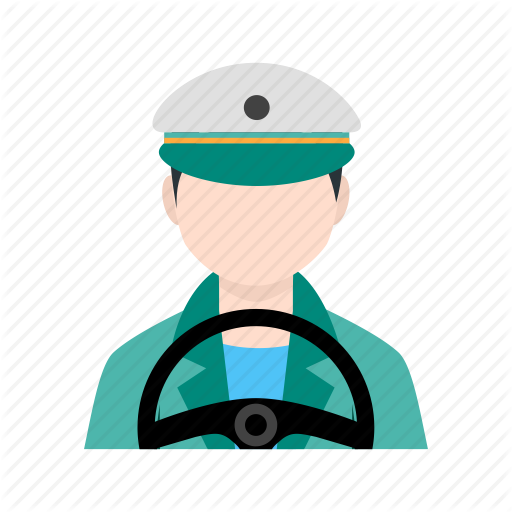 Bus Driver, Drive, Driver, Driving, Male Driver, Transporter Icon