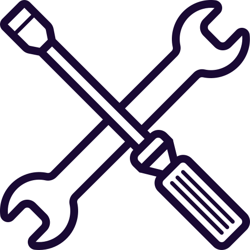 Driver, Mobile, Phone, Repair, Screw, Service, Wrench Icon Free