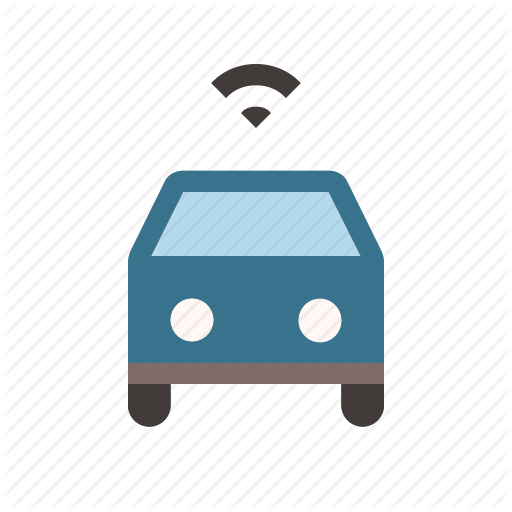 Car, Connected, Driverless, Self Driving, Smart, Transport, Wifi Icon