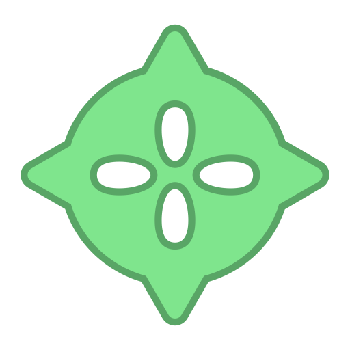 Green, Points, Droid, Virus, Round, Android, Bot Icon