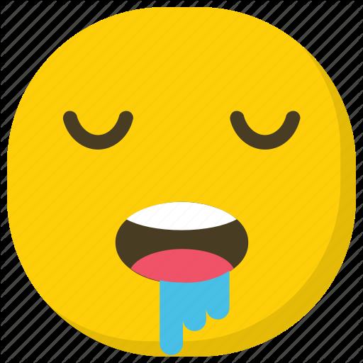 Drooling Emoji, Emoticon, Expressions, Ideogram, Smiley Icon