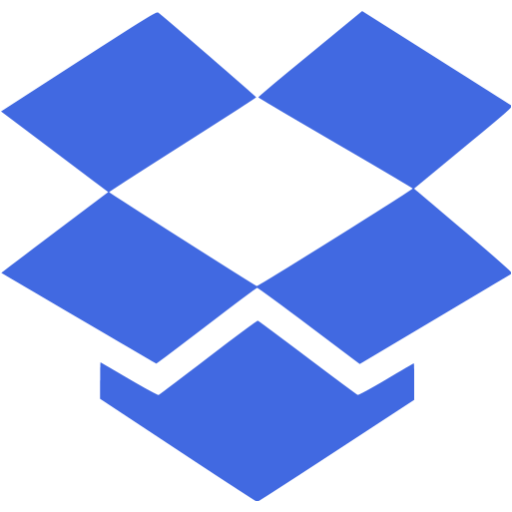 Royal Blue Dropbox Icon