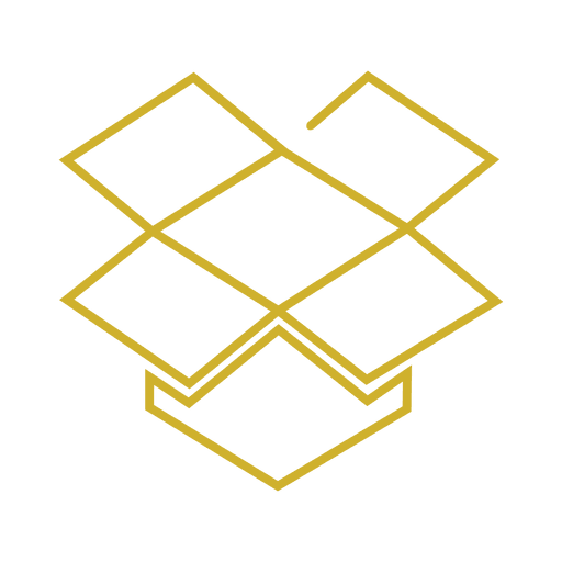 Yellow Dropbox Line Icon