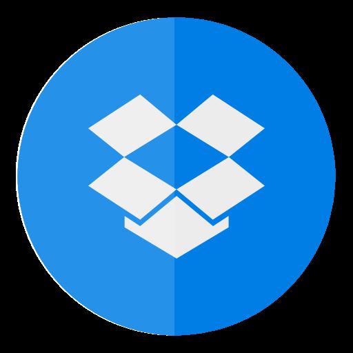 Circle, Cloud, Dropbox Icon