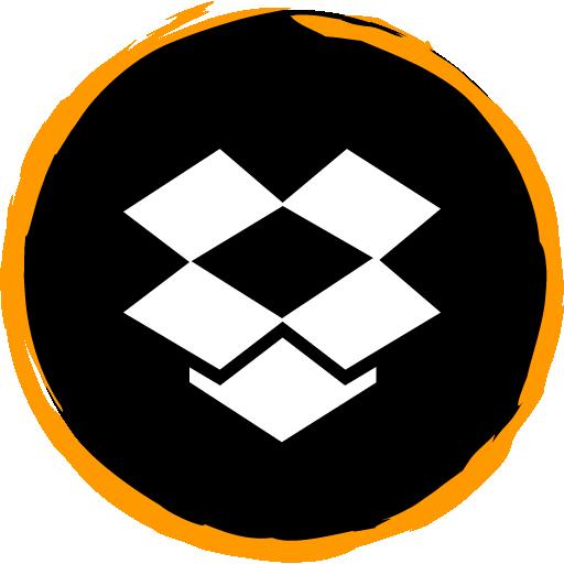 Dropbox Free Orange Social Media Art Brush Style Icon Designed