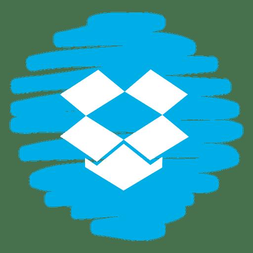 Dropbox Distorted Round Icon