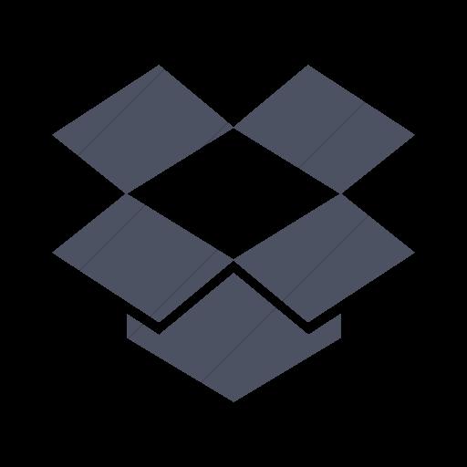 Simple Blue Gray Foundation Social Dropbox Icon