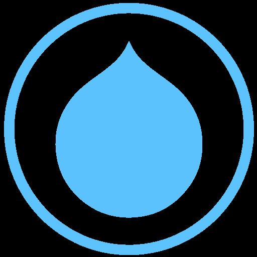 Drupal, Internet, Web Icon