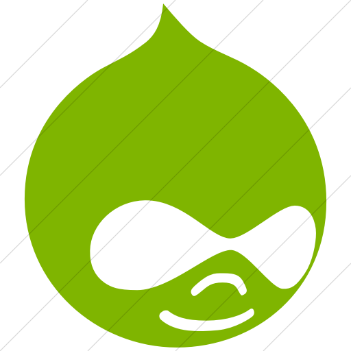 Simple Green Social Media Drupal Icon
