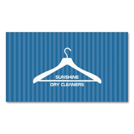 Dry Cleanerlaundry Business Card Dry Cleaning