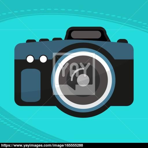 Photo Camera Icon, Modern Minimal Flat Design Style Vector Vector