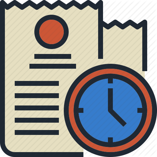 Bill, Date, Due, Payment, Time Icon