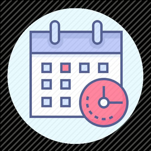 Calendar, Clock, Date, Deadline, Due Date, Schedule, Time Icon