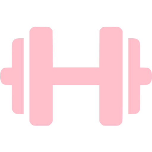 Pink Dumbbell Icon