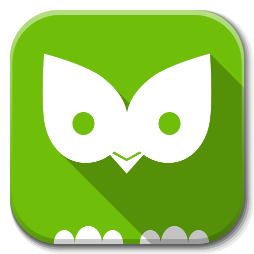 Apps Duolingo B Icon Flatwoken Iconset Alecive
