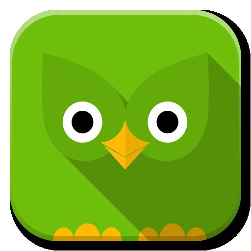 Apps Duolingo Icon Flatwoken Iconset Alecive