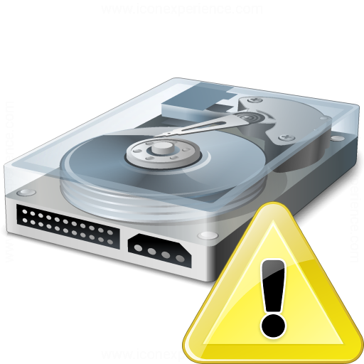 Iconexperience V Collection Hard Drive Warning Icon