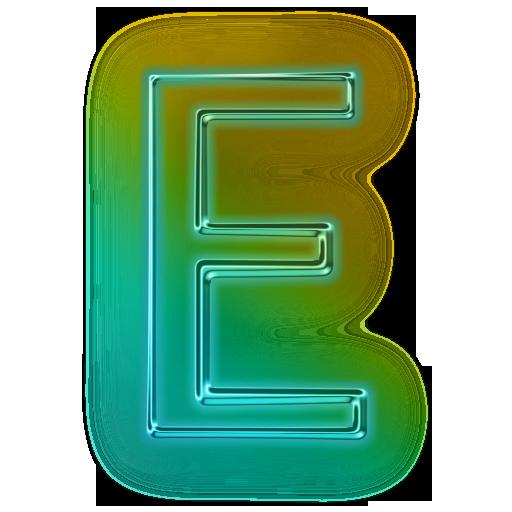 Capital Letter E Icon