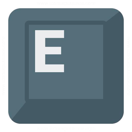 Iconexperience G Collection Keyboard Key E Icon