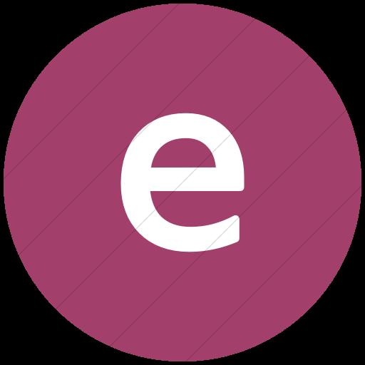Flat Circle White On Pink Alphanumerics Lowercase