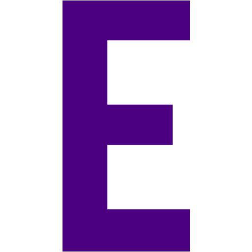 Indigo Letter E Icon