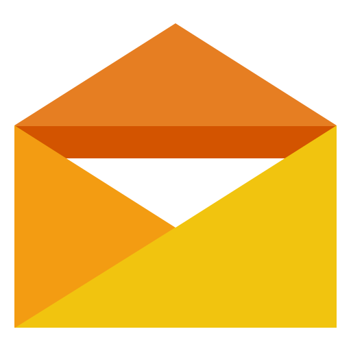 Orange Opened Envelope Letter Mail