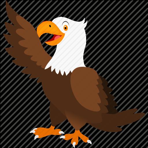 Animal, Bird, Brown, Eagle, White Icon