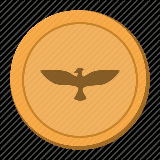 Bird, Coin, Eagle, Usa Icon