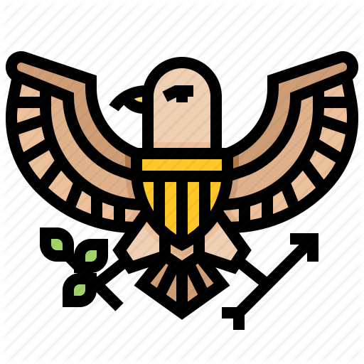 Eagle, Emblem, Majestic, Seal Icon