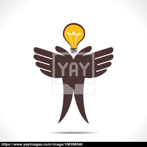 Save Energy Or Idea Concept Vector Vector