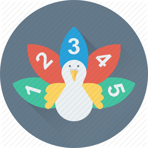 Counting, Digits, Duck, Early Learning, Numbers Icon