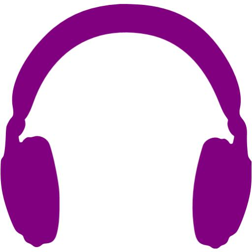 Purple Headphones Icon