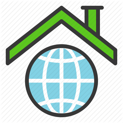 Earth Day, Ecology, Environmental Protection, Globe, Green, Roof Icon
