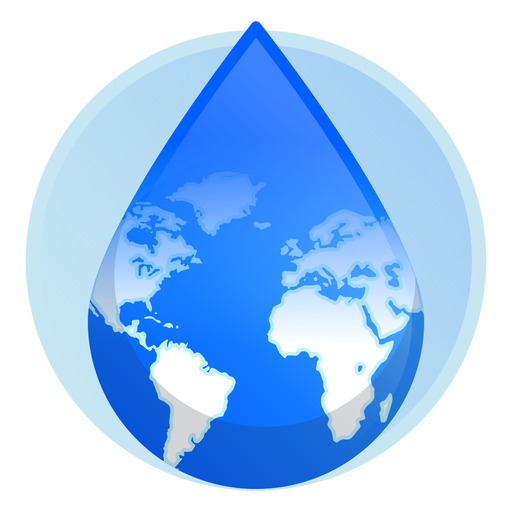 Earth Water Drop Icon