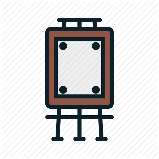 Canvas, Easel, Paint, Painter Icon, Tool Icon Icon