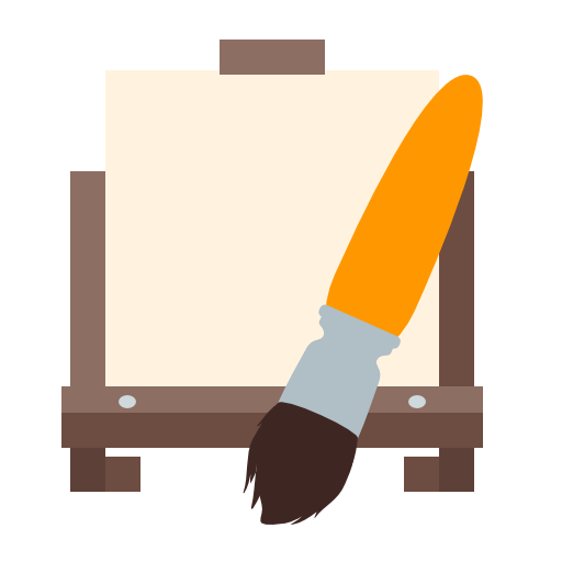 Easel, Brush, Design, Tool Icon Free Of Art And Design Tools Icons