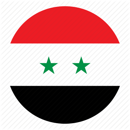 Color, Country, Flag, Middle East, Nation, Round, Syria Icon