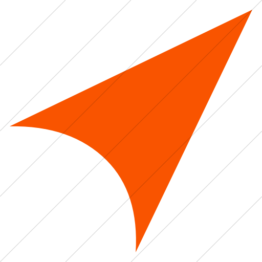 Simple Orange Classic Arrows Direction North East Icon