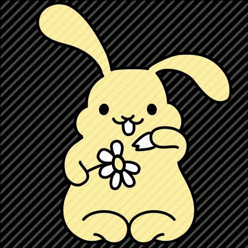 Bunny, Chamomile, Daisy, Easter, Flower, Love, Rabbit Icon