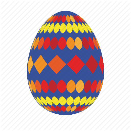 Blue, Easter, Easter Egg, Easter Eggs, Egg, Orange, Red Icon