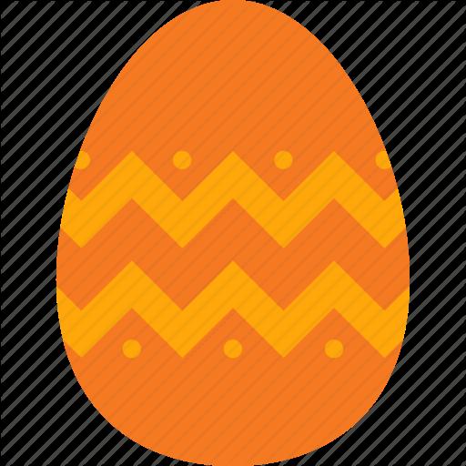 Decoration, Easter, Egg, Eggshell, Orange Icon