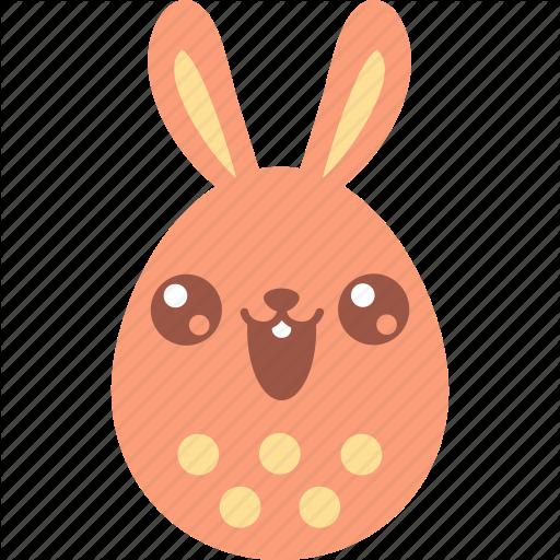 Bunny, Cute, Easter, Egg, Emoji, Emotion, Smile Icon