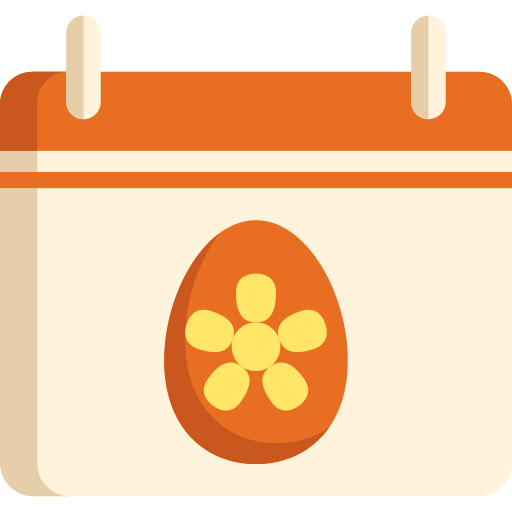 Easter Day Calendar Png Icon